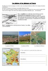 Plaines et plateaux en France – Ce2 – Cm1 – Géographie