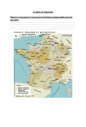 Le métier du géographe – Ce2 – Exercices