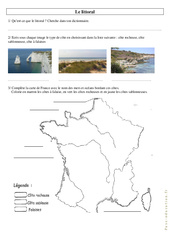 Le littoral – Ce2 – Cm1 – Exercices