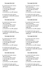 Sons [s] et [z] - Ce1 - Leçon - Orthographe