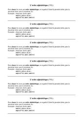 Ordre alphabétique – Ce1 – Leçon