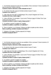 Problèmes mathématiques - Ce1  - Exercices  -5-