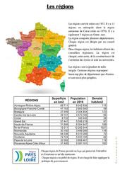 Les régions - Ce2 - Document, questions, correction