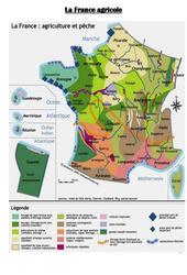 Carte de la France agricole - Ce2 cm1 cm2