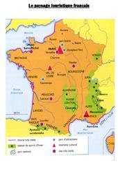 Carte du paysage touristique français – Cm1 cm2