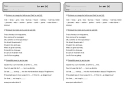 Son [o]  – Ce1  – Exercices – Orthographe