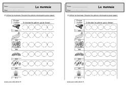 Monnaie – Euros – Ce1 – Exercices à imprimer