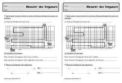 Mesures de longueur - Ce1 - Exercices cm, m et km