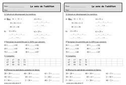 Le sens de l'addition – Ce1 – Exercices à imprimer