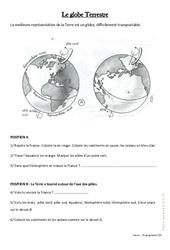 Le globe Terrestre - Ce2 - Exercices