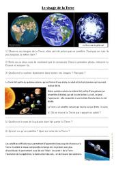 Le visage de la Terre - Ce2 - Exercices