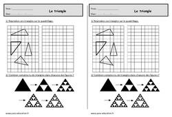 Triangles – Ce1 – Exercices à imprimer