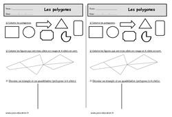 Triangle, carré, rectangle - Ce1 – Exercices sur les polygones