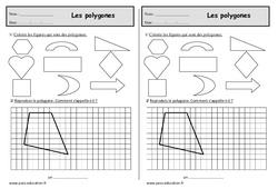 Polygones - Ce1 – Exercices de géométrie