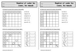 Repérer et coder les cases, les nœuds – Exercices géométrie