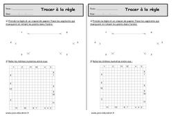 Règle – Ce1 – Exercices sur le tracé à imprimer