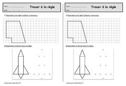 Tracer à la règle – Ce1- Exercices de géométrie