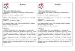 Problèmes - Ce1 Cycle 2 - Exercices calcul - Mathématiques