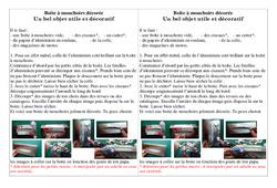 Boîte à mouchoirs décorée – Ce2 cm1 cm2 – Fête des pères – Cycle 3
