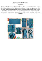 Cadeau pour la fête des pères – Arts plastiques – Ce2 cm1 cm2 – Cycle 3