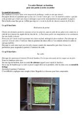 Un cadre flottant  en bambou – Fête des pères – arts plastique – Cycle 3