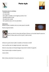 Porte stylo – Fête des pères:  – Cycle 2 – cycle 3 – Arts plastiques