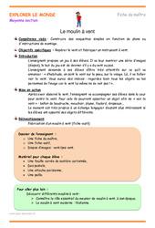 Moulin à vent – Moyenne section – Plan de séquence
