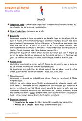 Goût – Moyenne section – Fiche de préparation