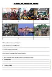 La richesse et la pauvreté dans le monde – Cm1 cm2 – Exercices- Géographie – Cycle 3