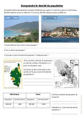 Comprendre la densité de population – Cm1 cm2 – Géographie cycle 3