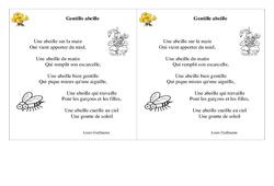 Poésie animaux - ce1 - : Gentille abeille – Cycle 2 - Français