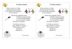 Poésie - Les deux sorcières - Ce1  – Cycle 2  Français
