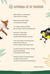 Le corbeau et le renard – Jean De La Fontaine – Fable – Ce2 cm1 cm2 – Cycle 3