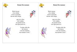 Bonne fête maman – Ce1 – Fête des mères – Cycle 2 – Poème et poésie