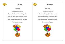 Petit papa - Poésie, poème -Ce1 - Fête des pères -  Cycle 2