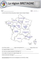 Bretagne – Cm1 – Cm2 – Je découvre ma région