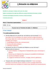 Evolution du téléphone - Cm1 - Cm2 - Fiche de préparation - Séquence