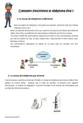 Comment fonctionne le téléphone fixe - Cm1 - Cm2 - Exercices