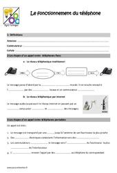 Fonctionnement du téléphone - Cm1 - Cm2 - Leçon