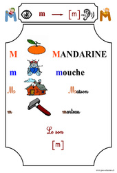 Le son [m] – Cp – Etude des sons – Lecture – Cycle 2