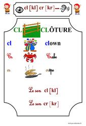 Le son cl [kl] cr [kr] – Cp – Etude des sons – Lecture – Cycle 2
