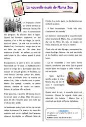 La nouvelle école de Mama Zou – La rentrée – Ce2 – Lecture – Cycle 3