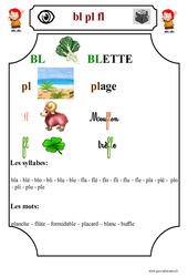 Le son 'bl pl fl'  – Cp – Etude des sons – Lecture – Cycle 2