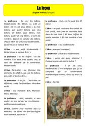 La leçon – La rentrée – Ce2 – Lecture – Cycle 3