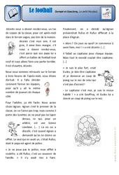 Le football – Le petit Nicolas – Ce2 – Exercices – Lecture – Récit – Cycle 3
