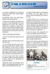 Le loup, la chèvre et la télé – Ce2 – Exercices – Lecture – Récit – Cycle 3