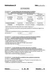 Problèmes – Cm1 – Cm2 – Evaluation