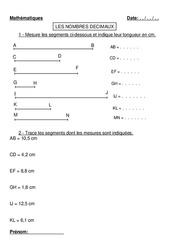 Nombres décimaux - Cm1 - Cm2 - Exercices - Numération -Mathématiques - Cycle 3