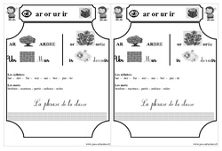 Le son  ar or ur ir   – Cp – Etude des sons – Lecture – Cycle 2