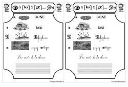 Le son  x [ks] x [gz] - Cp - Etude des sons - Lecture - Cycle 2